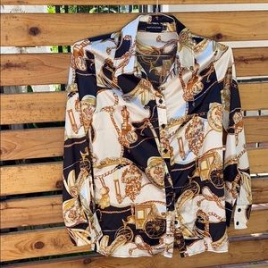 Polyester printed blouse
